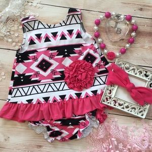Other - Baby Aztec print Swing Top set with Ruffle bloomer